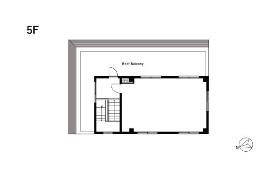 5F FLOOR PLAN with Roof Balcony