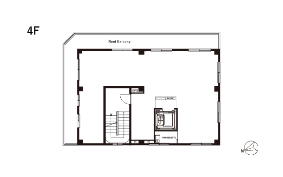 4F FLOOR PLAN with Roof Balcony