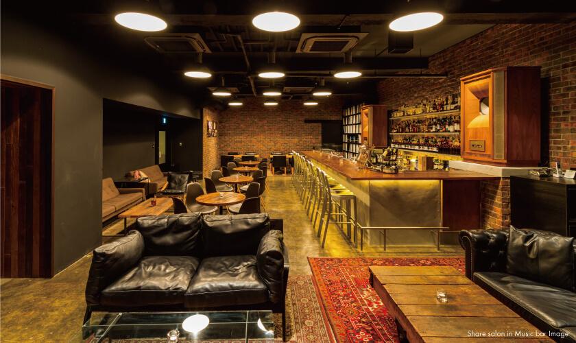 Share Salon in Music bar